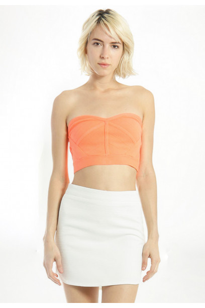 KNIT BACK ZIP TUBE TOP