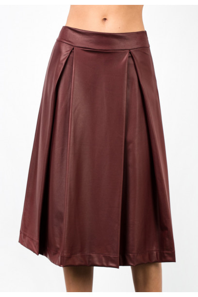 PU PLEATED SKIRT