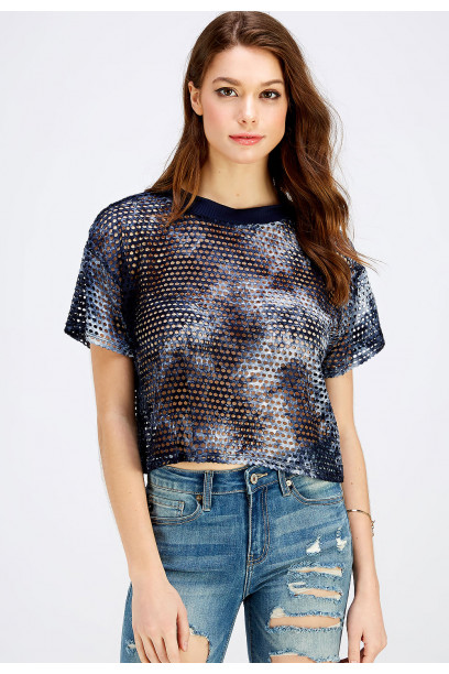 FISHNET CROP TOP